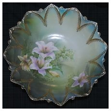 RS Prussia large bowl with lilies