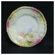 RS Prussia dessert plate - mold 306 with poppies