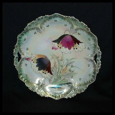 RS Prussia plate – point & clover mold with stylized poppies