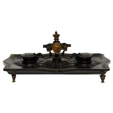 Victorian Gutta Percha Mechanical Inkstand