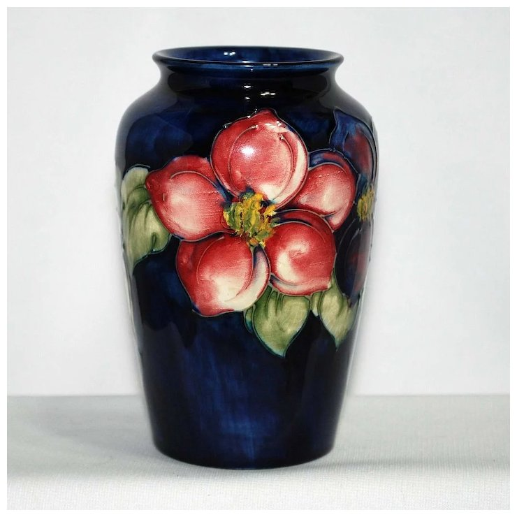 Moorcroft Vase Clematis Artful Toys And Antiques Ruby Lane