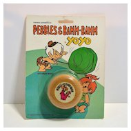 Wooden Pebbles and Bamm-Bamm YoYo  yo-yo from The Flintstones-mint on card