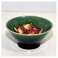 Small Moorcroft Footed Bowl – Green with Freesia Pattern