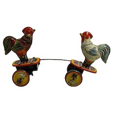 The Fighting Chickens Windup from Japan