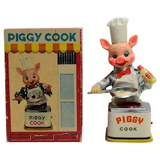 Battery Operated Piggy Cook by Yonezowa Mint in Box