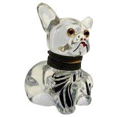 Czech Glass Bulldog Inkwell