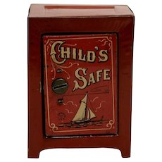 Chein Tin Child's Safe Bank - Medium Size