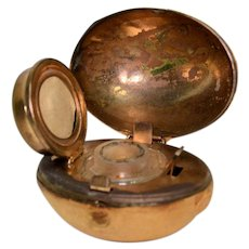 Rugby Shaped Figural Traveling Inkwell