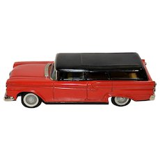 UPDATE: Sanyo Tin 1959 Ford Station Wagon Friction Toy from Japan-see condition report