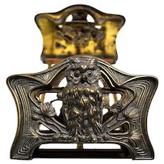 H.L. Judd Cast Owl Book Rack with Double Letter Holders