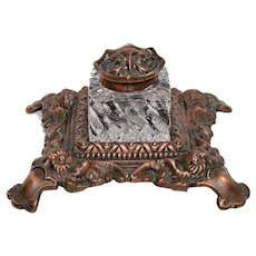 H.L. Judd Inkstand with Owls