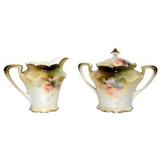 RS Prussia Poland Creamer and Sugar Bowl Mold 509a
