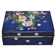 Early Twentieth Century Japanese Cloisonné Box