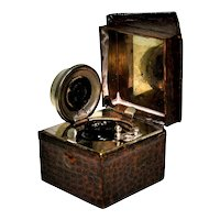 Figural House Shaped Traveling Inkwell, Early 1900s