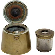 19th Century Traveling Inkwell 2 LB Weight Shape