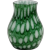 Small Aventurine Green Bohemian Czechoslovakia Glass Vase