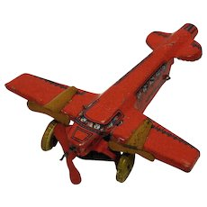 Tin Tri-Motor Penny Toy