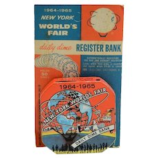 """1964-1965 New York World's Fair Daily Dime Bank"" Register Bank"