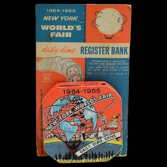 """1964-1965 New York World's Fair Daily Dime Bank"" Register Bank"