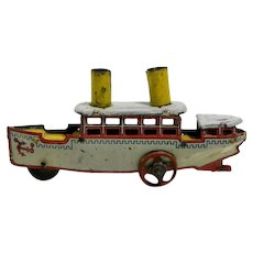 Tin Penny Toy Boat
