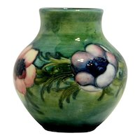 Small Moorcroft Vase in Anemone Pattern