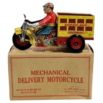 Marx Speed Boy Delivery Tin Windup with Box – near Mint