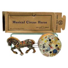 Marx Musical Circus Horse with Box