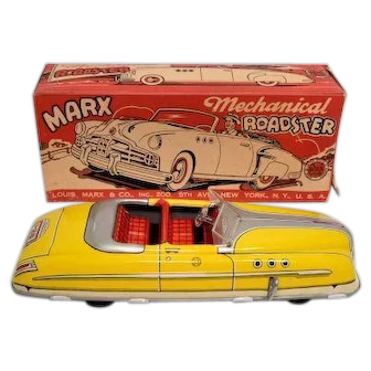 Marx Tin Mechanical Roadster Windup with Box