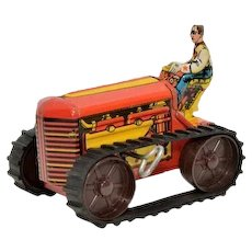Marx Midget Tractor with Brake and Rubber Tread