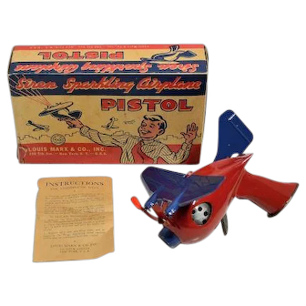 Marx Siren Sparkling Airplane Pistol with Box and Instructions