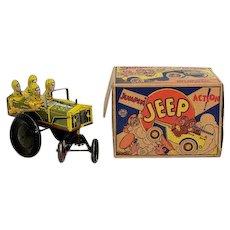 Marx Tin Windup Jumpin' Jeep with Box