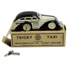 Tin Marx Tricky Taxi Windup with Partial Box and Replacement Key
