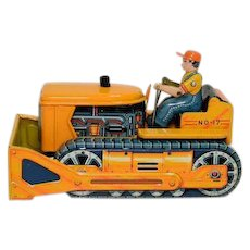 Linemar Battery Operated No. 17 Bump 'N Go Bulldozer