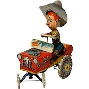 Unique Art Tin Rodeo Joe Windup