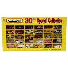Matchbox 30 Die-Cast Vehicles Special Collection from 1993 with Box