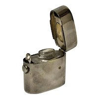 Metal Traveling Inkwell, Lighter Shaped