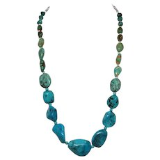 Graduated American Turquoise Necklace: Forever Turquoise