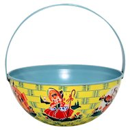 Chein Tin Nursery Rhyme Basket