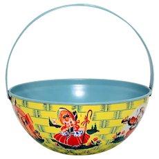 Chein Tin Nursery Rhyme Basket