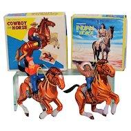 MTU Cowboy and Indian Tin Windups MIB