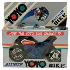Plastic Yo-Yo to Yamaha Motorcycle Transformer- MIP