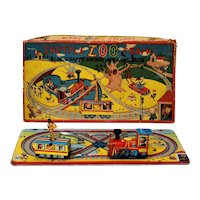 Difficult to Find Tin TPS Shuttle Zoo Train Windup with Box