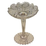 American Brilliant Cut Glass Tall Compote or Comport