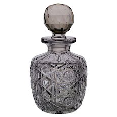 American Brilliant Period Cut Glass Bottle