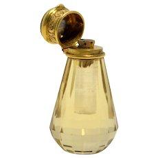 Nineteenth Century Cut Glass Perfume Bottle