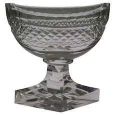 American Brilliant Cut Glass Footed Master Salt