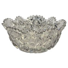 American Brilliant Cut Glass Libbey Colonna Pattern Bowl