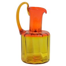 Blenko No. 6511 Pitcher in Tangerine