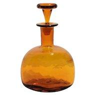 Blenko No. 6617 Decanter in Honey