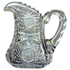 American Brilliant Cut Glass Pitcher or Jug